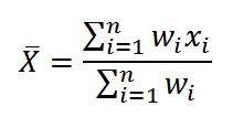 میانگین وزنی چیست و نحوه محاسبه آن؟