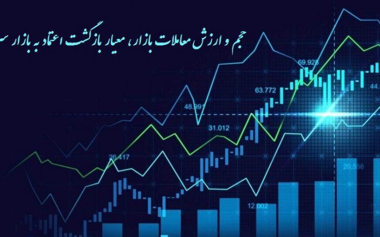 حجم و ارزش معاملات بازار معیار بازگشت اعتماد به بازار سرمایه است
