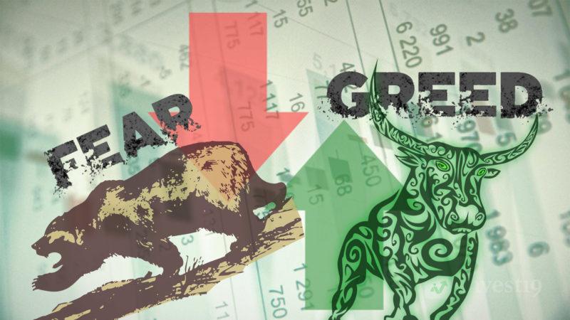 ترس و طمع در بازار سهام