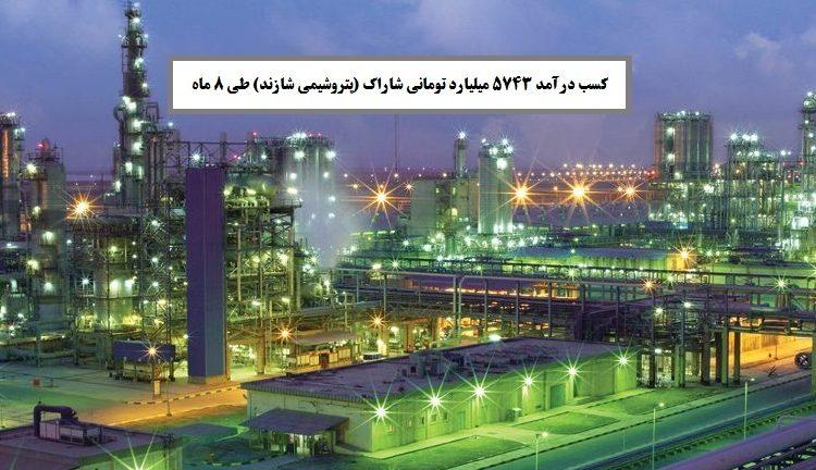 کسب درآمد 5743 میلیارد تومانی شاراک (پتروشیمی شازند) طی 8 ماه