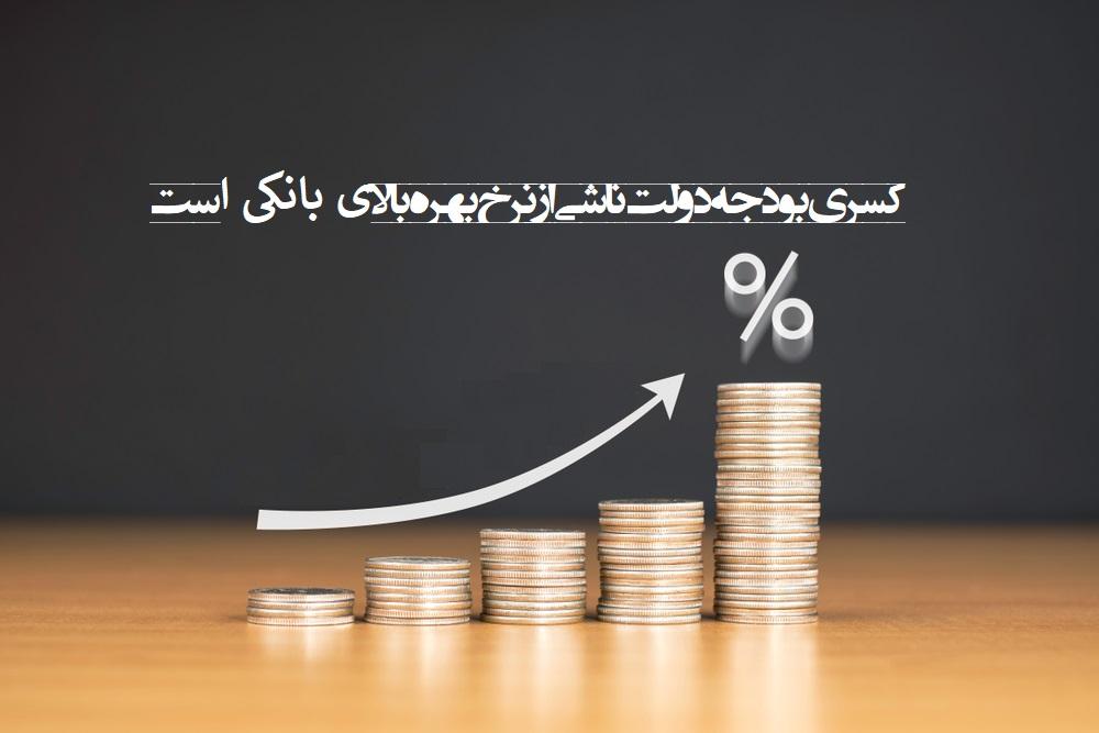 حقانی نسب: بخشی مهمی از کسری بودجه دولت ناشی از نرخ بهره بالاست